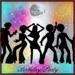 Rétro invitation de fête d'anniversaire de disco les années 70, musique, disco, boule de disco, fête d'anniversaire de disco, rétro, anniversaire, partie, nuit, amusement, rassemblements, danse, boule, populaire, moderne, bachelorette, club, ouverture, toute, parties, affaires, économies, date, cinquantième, 18ème, 21ème, 30ème, quarantième, soixantième, noir, rouge, d'entreprise, doux