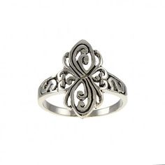 Elegant Sterling Silver Ring only at Steelza.com Sterling Silver Rings, Pure Products, Elegant, Floral, Beautiful, Jewelry, Classy, Florals, Jewlery