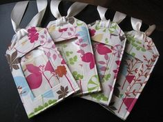 Luggage  Tags/ Oriental Floral by Bettinasdesigns on Etsy, $5.75
