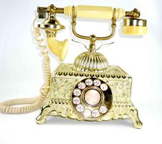 French Provencial Style Rotary Dial Telephone