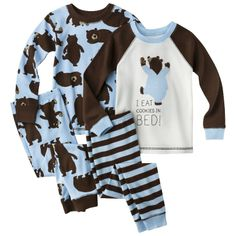 Just One You® Made by Carter's Infant Toddler Boys' 4-Piece Long-Sleeve Pajama Set