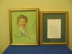 Original KATHARINE HEPBURN Signed Letter! Autographed, and Painting