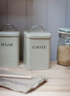 Coffee Canister in Clay - Steel on sale in the UK along with best prices on many other home and garden items