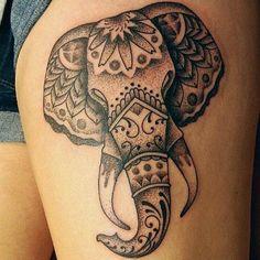 Stylized Elephant Tattoo - http://99tattooideas.com/stylized-elephant-tattoo-3/ #tattoo #tattooidea #tattoodesign