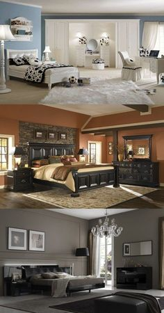 Transitional Bedroom Ideas - We have actually featured a lot of bedroom designs already and also without a doubt, you still like to see even more due to the fact that we never obtain sufficient of bedroom interior decoration ideas that . House Color Schemes, Bedroom Color Schemes, Bedroom Colors, House Colors, Bedroom Layouts, Bedroom Ideas, Bedroom Designs, King Bedroom Sets, White Bedroom
