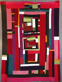 Corduroy Quilt top by LeeAnn of the Nifty Quilts Blog