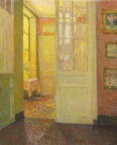 Henri Le Sidaner: Intérieur, Lumière de la Fenêtre (1931) via Sotheby's