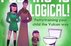 Pooping Is Logical is a potty training book by Gary Whitta (Star Wars: Rogue One) and his wife Leah Whitta based on Vulcan principles established in Star Trek. The book was inspired by the couple u… Star Trek Enterprise, Star Trek Voyager, Star Trek Tos, Potty Training Humor, Toilet Training, Kids Potty, Warehouse 13, Firefly Serenity, Stargate