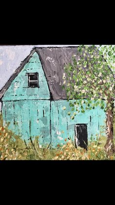 Watercolor Barns, Acrylic Painting For Beginners, Farm Art, Country Paintings, Canvas Art, Landscape, House Styles, Gallery, Watercolors