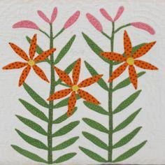 Shenandoah Valley Botanical Album Quilt of 1858: B-1 Tiger Lily