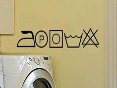 wall decal Laundry symbols laundryroom por WallDecalsAndQuotes