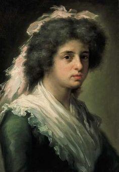 Retrato de Feliciana Bayeu, hija del pintor - Francisco Bayeu y Subias