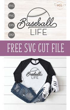 Get ready for the ball game with this free Baseball Life SVG cut file for Cricut and Silhouette cutting machines. This free Baseball Life SVG iincludes PNG, EPS and DXF files. Cricut Vinyl, Svg Files For Cricut, Cricut Craft, Baseball Shirts, Baseball Gloves, Baseball Boys, Sports Shirts, Softball, Game Day Shirts