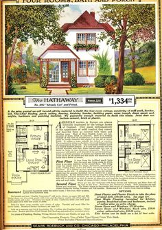 The Hathaway (a Sears kit home) was a cute little house, and affordable, and probably not too tough to build.