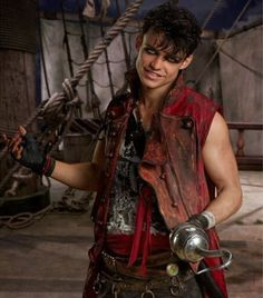 Thomas Doherty as Harry Hook the son of Captain Hook #Descendants2