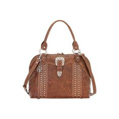 Women's American West Twisted Trail Satchel - Antique Brown Satchels ($254) ❤ liked on Polyvore