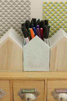 Pot à crayons en forme de maison {DIY} - Avec ses 10 p'tits doigts... Soyez DIY !