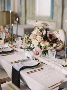 Beautiful Wedding Reception Decoration Ideas - Put the Ring on It Wedding Table Settings, Wedding Table Centerpieces, Wedding Decorations, Graduation Centerpiece, Quinceanera Centerpieces, Simple Centerpieces, Candle Centerpieces, Centrepieces, Centerpiece Ideas