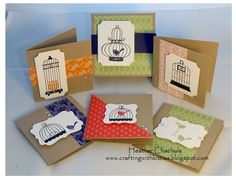 SUO Aviary 3X3 Cards and Box by heatherla - Cards and Paper Crafts at Splitcoaststampers