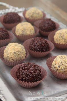 TRUFAS DE CHOCOLATE FÁCIL FÁCILES  Una receta de trufas de chocolate muy sencilla, para todos los públicos con sólo 3 ingredientes.