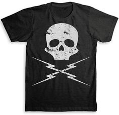 Death Proof Skull T Shirt - Tri-Blend Vintage Fashion - Graphic Tees for Men & Women