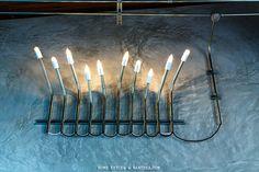 โคมไฟ DIY ท่อเหล็ก