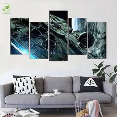 5 Pieces/set Star Wars Millennium Falcon Modern Home Wall Decor Canvas Picture Art HD Print Painting On Canvas For Living Room