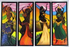 cuadros de africanas bailarinas