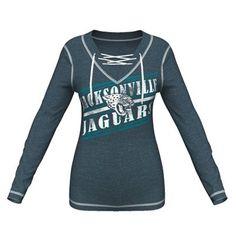 Majestic Jacksonville Jaguars Women s Charcoal Overtime Queen V-Neck  Pullover Sweatshirt 6c36a5ed5
