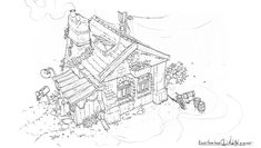 ArtStation - House sketches - Stylized, Michal Kus
