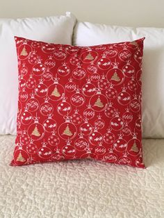 Ornaments Pillow Cover  Christmas Pillow  by KathyRyanDesigns