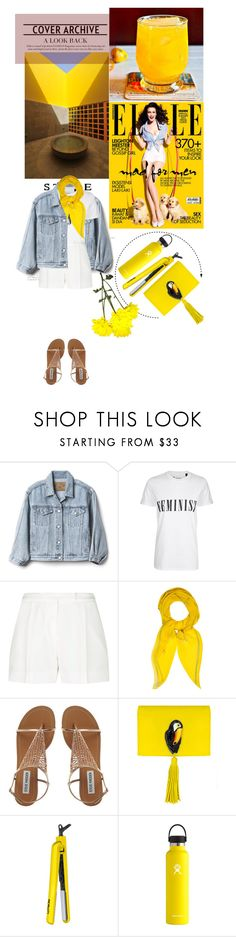 """""""First time using app"""" by redmushroom ❤ liked on Polyvore featuring Bellini, Gap, Tee and Cake, Elie Saab, Hermès, Nach Bijoux, Lorion and Hydro Flask"""