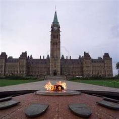 ottawa ontario parliament building - the peace flame & fountain - peaceful and impressive -MR