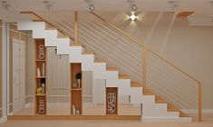 """Especially Since The Guest Room is Upstairs So We Would not Have to """"do stairs"""" Everyday - House & Living Wooden Staircases, Wooden Stairs, Treads And Risers, Winding Staircase, Porch Steps, Colorful Pillows, Hidden Storage, Staircase Design, Room Themes"""