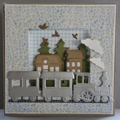 Card made by DT member Neline with the train (LR0308). Also used are COL1329 and COL1330 from Marianne Design