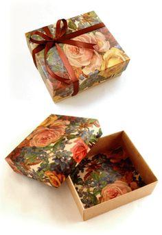 簡単で丈夫な箱の作り方 How to make a strong box out of wrapping paper