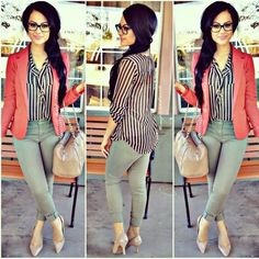 Blazer: zenana outfitters pants: charlotte russe heels: payless business ca Fashion Mode, Fashion Killa, I Love Fashion, Work Fashion, Passion For Fashion, Fashion Outfits, Womens Fashion, Charlotte Russe Heels, Casual Outfits