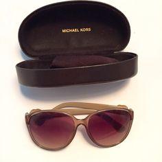 Michael Kors sunglasses Amazing tan sunglasses! Barely been worn case included Michael Kors Accessories Sunglasses