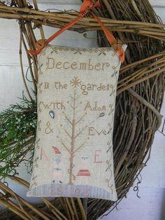 Christmas Adam & Christmas Eve Sampler Pattern - Notforgotten Farm
