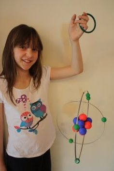 Lizzy was allowed to choose the topic for her last school project. It didn't surprise me that she chose a topic - Atoms and Molecules - whi. Carbon Atom Model, 3d Atom Model, Atom Model Project, Science Project Models, Science Models, Dna Model, Physics Projects, School Science Projects, Science For Kids