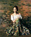 Women paintings by Xie Chuyu.