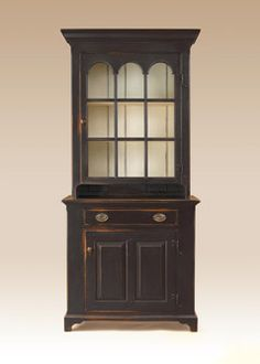 Country Style Hutch with Rustic Painted Finish.