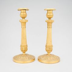 Par de casticais Franceses, Imperio, em bronze gilded a ouro do inicio do sec.19th, 28cm de altura, 4,100 USD / 3,700 EUROS / 13,500 REAIS / 27,300 CHINESE YUAN