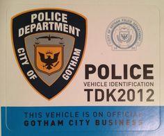 Gotham City Police window decal