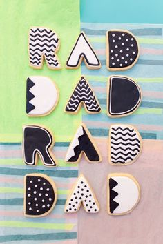 rad dad father's day cookies