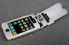 Sheet Metal iPhone Case by Ryan Glasgow for LtdTools... but not for the iPhone 5s   ;-(