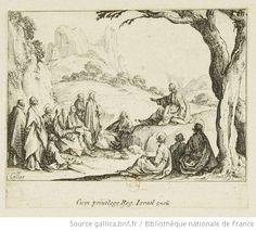 Callot, Jacques, le sermon sur la montagne, 1612, NT  gallica.bnf fr