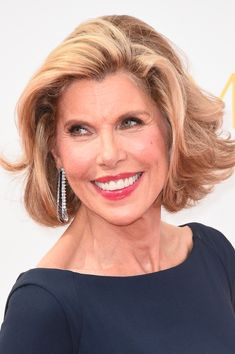 More Pics of Christine Baranski Short Wavy Cut
