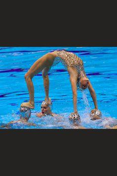 Synchronized swimming...