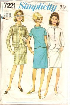 1960s MIsses Skirt and Top Pattern Bust 34 by CherryCorners, $8.00
